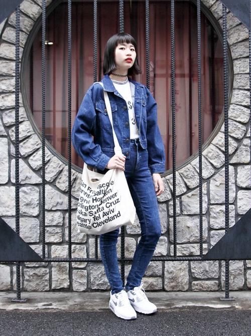 2015秋冬ファッショントレンドワード「デニムオンデニム」